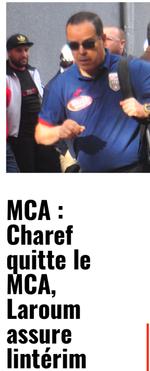 Charef Boualem démissionne