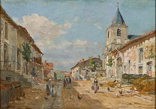 Edmond-Marie Petitjean - Rua de Aldeia