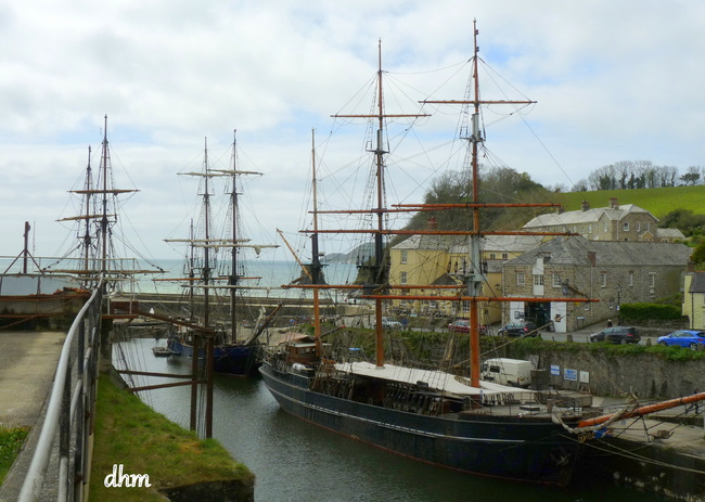 Le port de Charlestown  en Cornouailles
