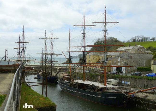 Le port de Charlestown  en Cornouailles