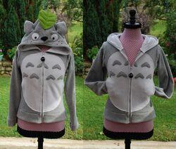 """Un sweat à capuche """"Totoro"""""""