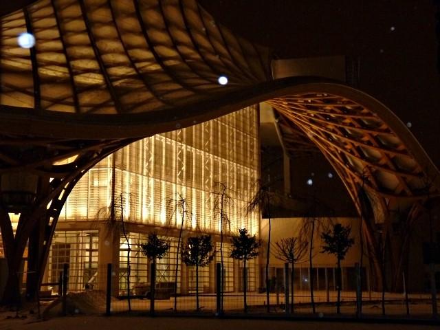 Centre Pompidou Metz neige nuit 7 20 12 09