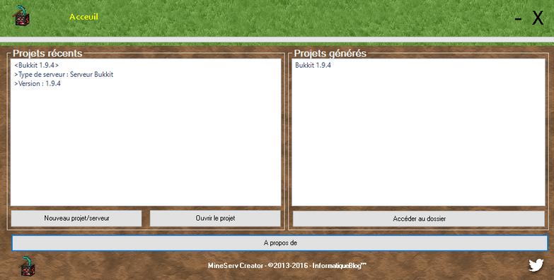 "MineServ Creator 2.4 : ""Design Update"""
