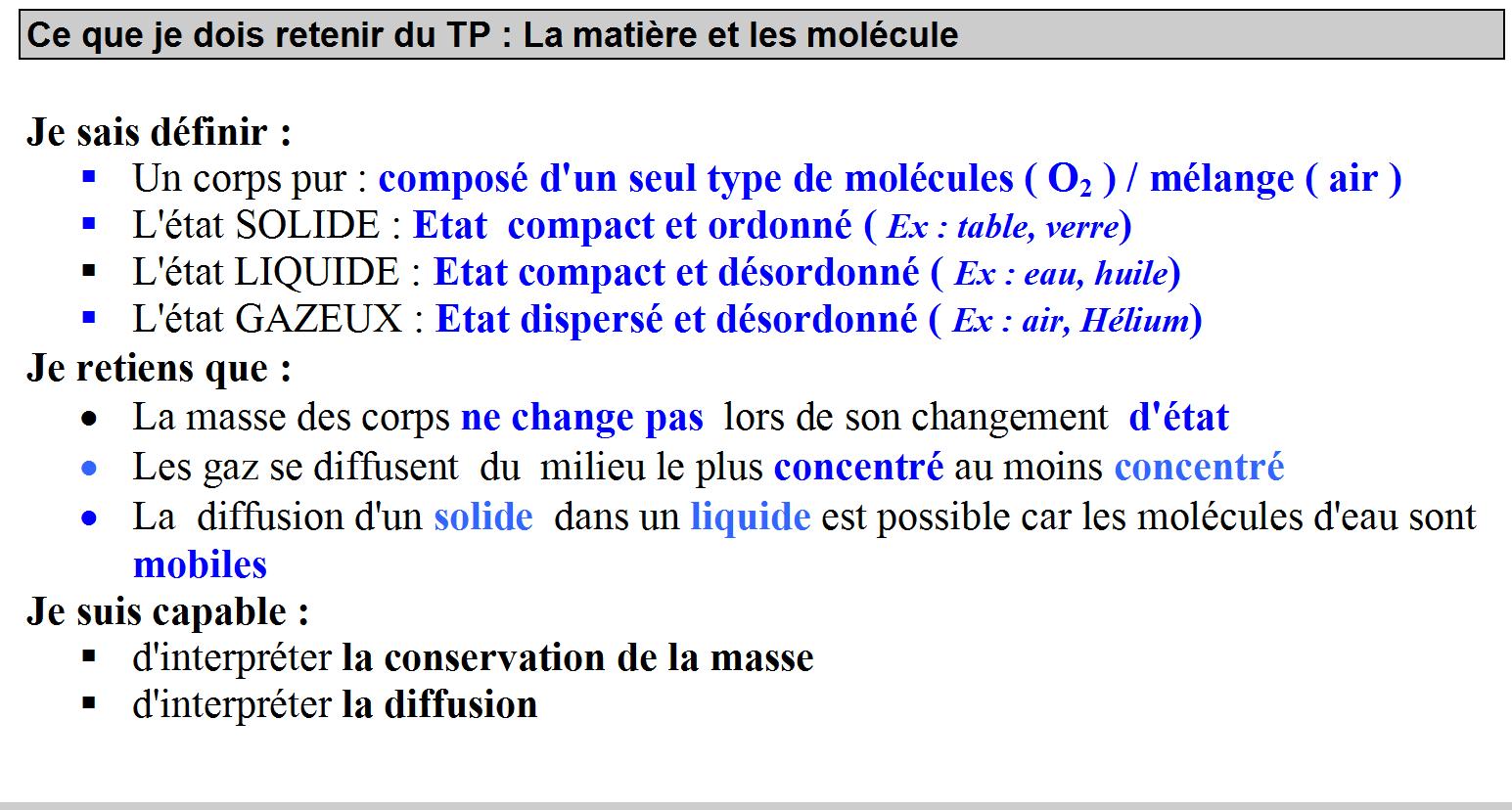 3 Matière et molécule - Sciences Physiques Collège ...