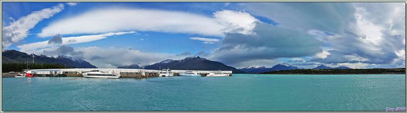 L'embarcadère de Puerto Bandera, départ de notre balade - Lago Argentino - Patagonie - Argentine