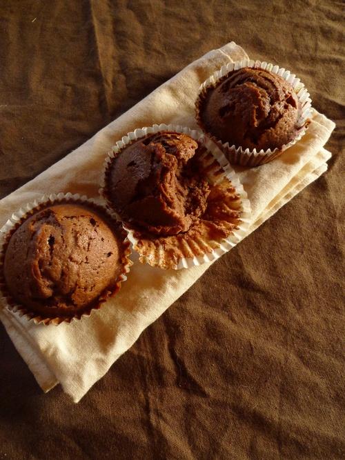 Muffins au cacao amer