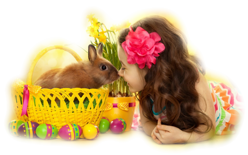 tubes, enfants, Pâques