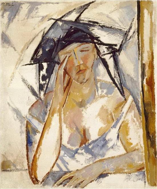Mikhail Larionov, Portrait de femme, 1911-1912