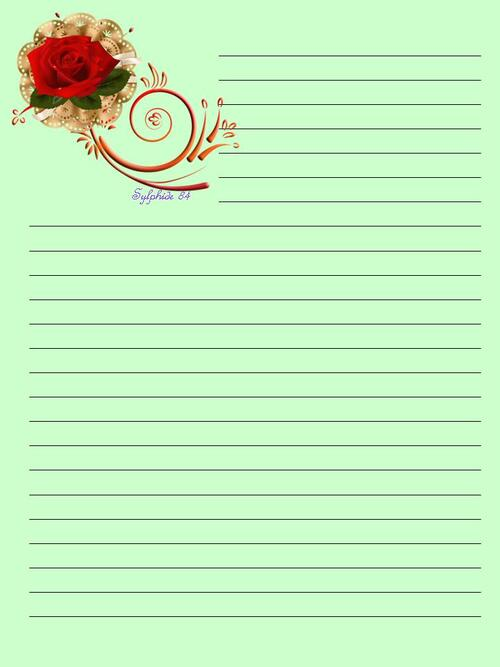 Papier à Lettre -