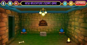 Jouer à Dark stone room escape