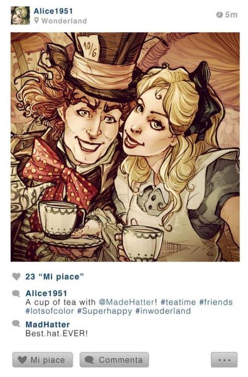 Si les personnages de Disney avaient Instagram