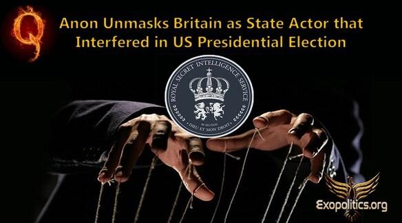 ⇒ QAnon démasque la Grande-Bretagne en tant qu'acteur d'État qui a interféré dans les élections présidentielles américaines
