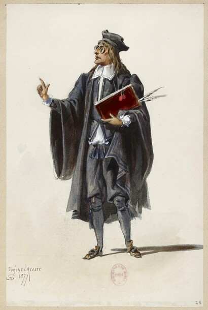 Un notaire en 1877 (dessin d'Eugène Lacoste)