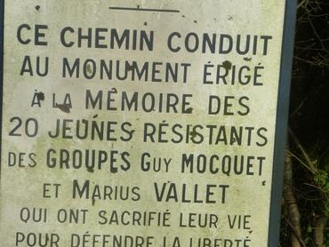 Rocher de Valmy - Monument de la Résistance.