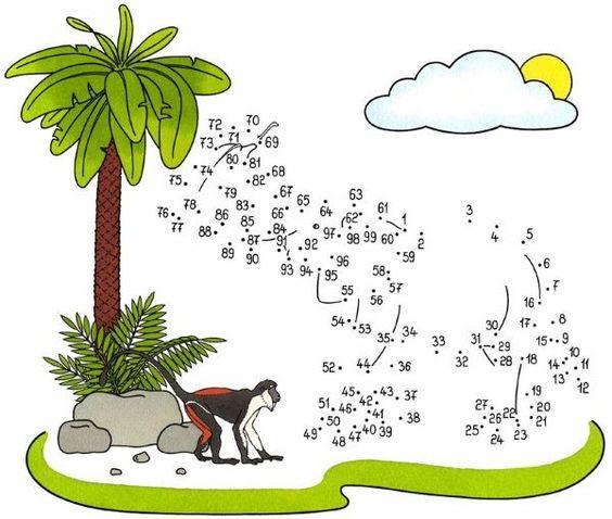 Coloriage points à relier : Quel animal trompe énormément ?