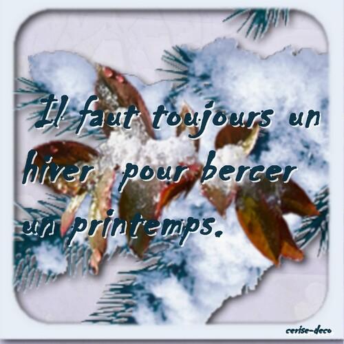 l'hiver : citation illustrée