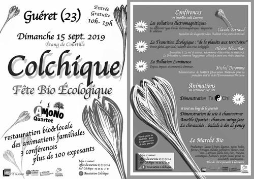 15 Septembre 2019 Fête Bio Ecologique  GUERET (23)