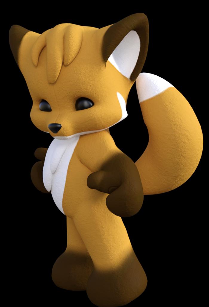 Petit renard mignon (tube-image)