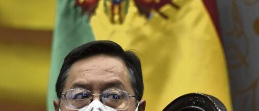 Luis Arce dit avoir trouvé en prenant ses fonctions «un État absolument en faillite, sans ressources», miné par les orientations austéritaires des putschistes. Aizar Raldes/AFP
