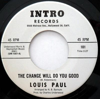 LOUIS PAUL - the change will do you good