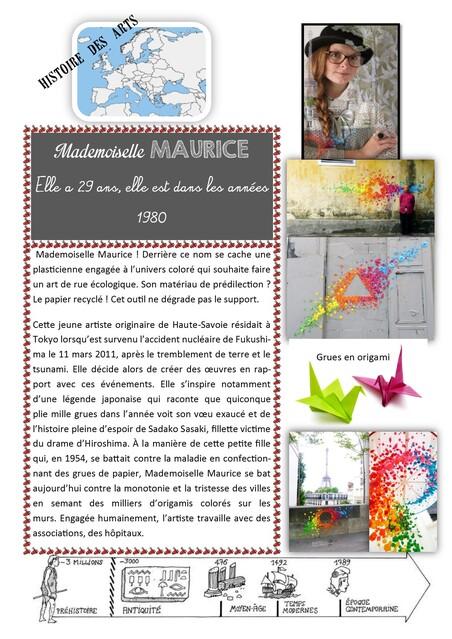 Street art, origami et coopération.