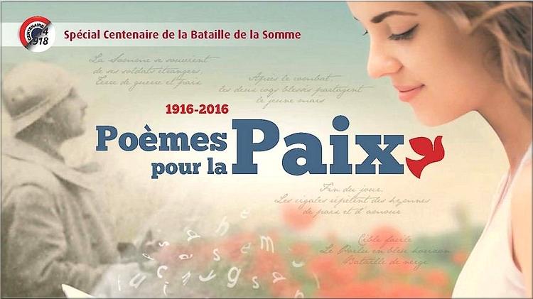 """""""Poèmes pour la Paix"""" à l'occasion du centenaire de la bataille de la Somme"""