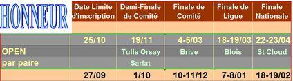 Compétitions: Les équipes saison 2016-2017: Honneur /2