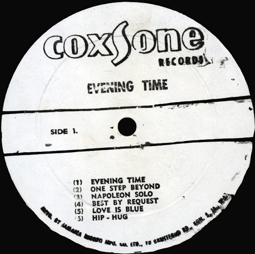 "Jackie Mittoo & The Soul Vendors : Album "" Evening Time "" Coxone Records CSL 8012 [ JA ]"