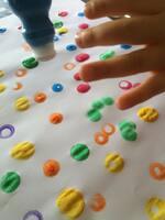 Peinture en tampons