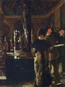 Foreign Visitors at The Louvre - James Jacques Joseph Tissot - www.jamestissot.org