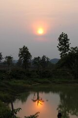 Coucher de soleil sur la mare du Temple
