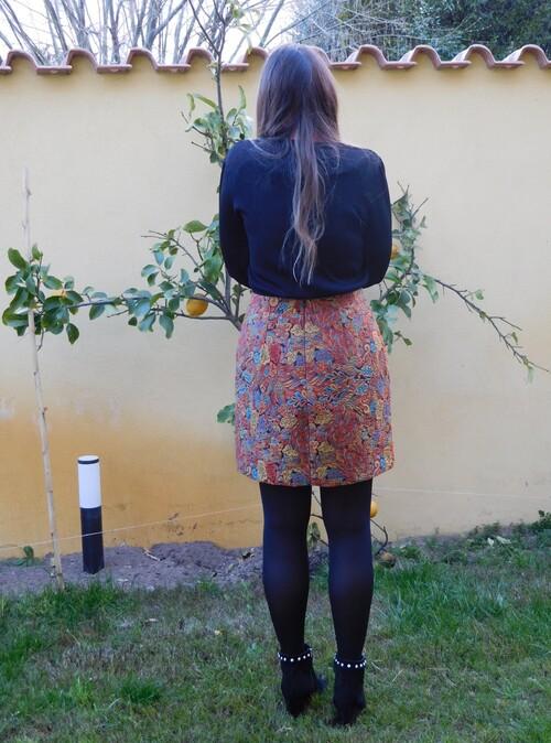 Jupe orange Diane