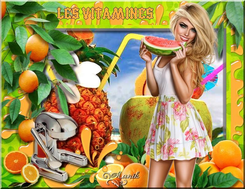 Défi du 2 au 9 Juin ( Les vitamines )