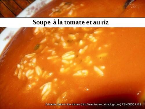 Soupe à la tomate et au riz