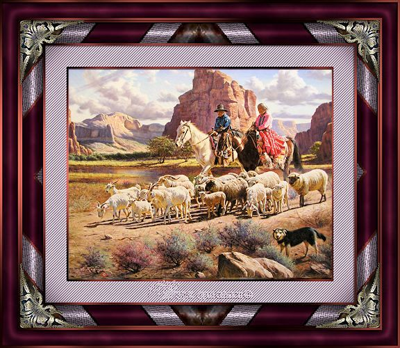 Cadre pionniers cow-boy 11