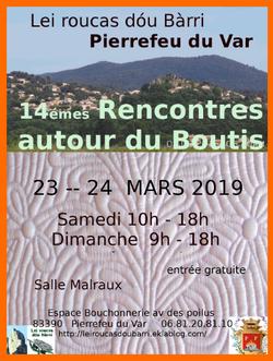 Rencontres autour du boutis 23/24 mars (Pierrefeu du Var 83)