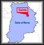 Randonnée, circuit de Saints - Les Moulins (77)
