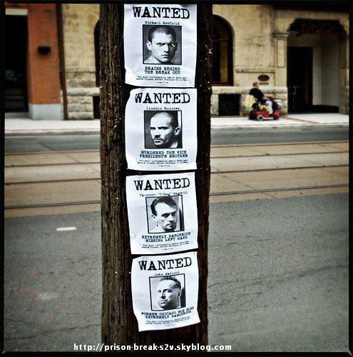 Wanted (Promo de la Saison 2 de Prison Break dans les rues americaine)