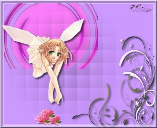 Création graphique : Le lotus et l'ange