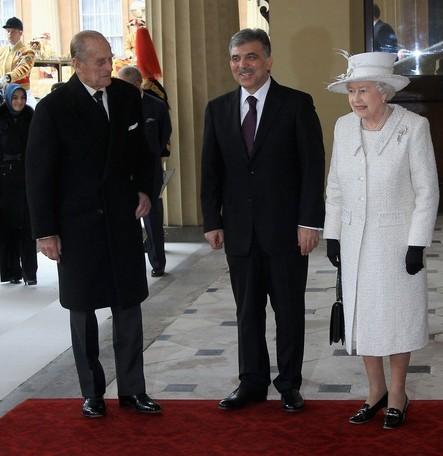 Elizabeth, Philip et le président