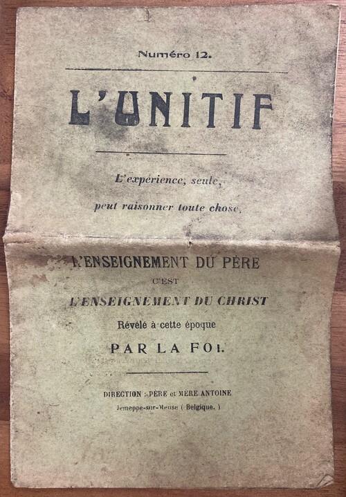 Unitif n°12 (derniers moments du Père), 1914