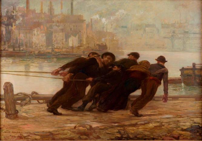 Les hâleurs - Jules Adler