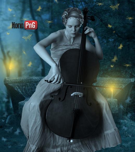 Tubes femme au violon