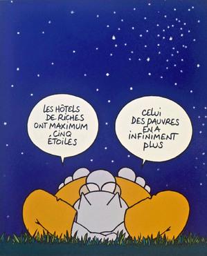 """L'exposition """"Le Chat déambule"""" aux Champs-Elysées avec Louis"""