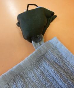 BRIGITTE idée de montage pour un essuie mains