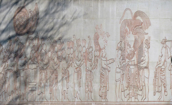 Maison du Mexique - Fresque maya
