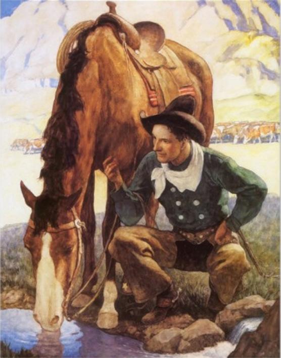 le Cowboy et son Cheval