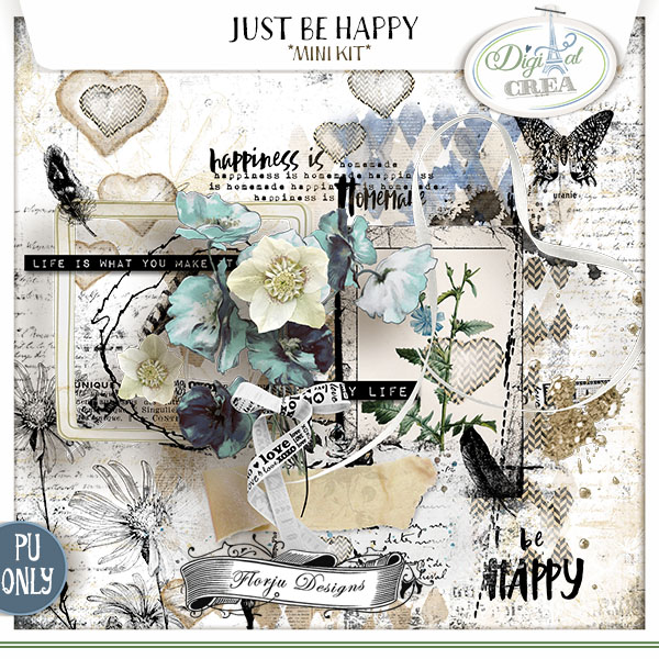 Just Be Happy { MINI kit PU } Florju Designs