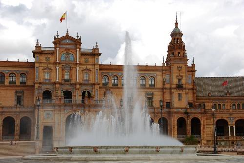 Autour de la Place d'Espagne à Séville (photos)