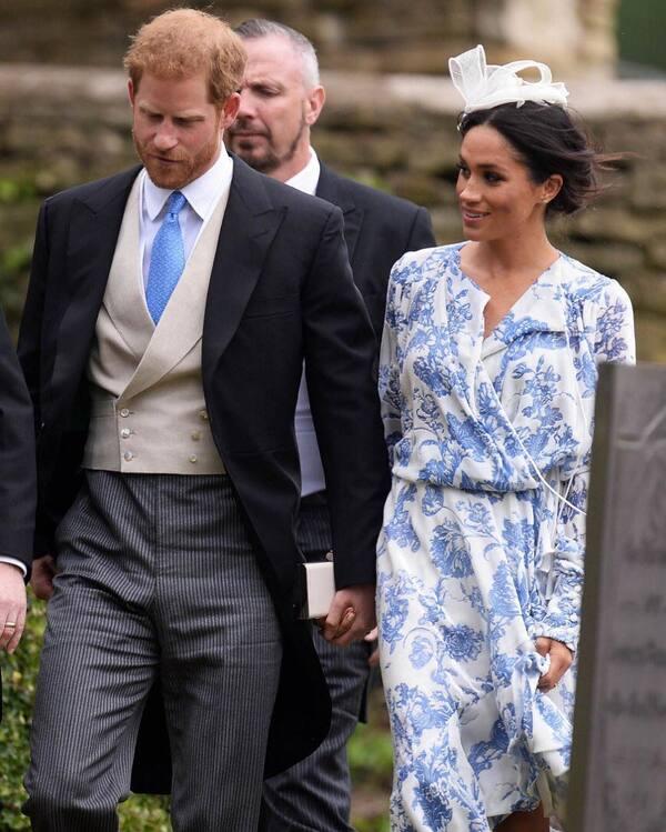 Harry et Meghan à un mariage
